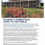 Plashett Homestead – open to public