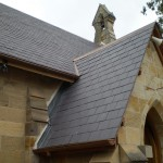 New slate roffing and copper stormwater