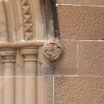 Newly restored stone carving
