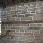 Stone wall repair finished.