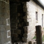 Stone wall before