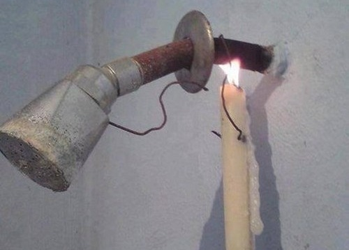where's the hotwater located?